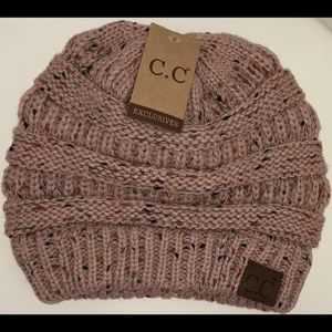 C.C. Exclusive Beanie in Indi Pink Confetti NWT
